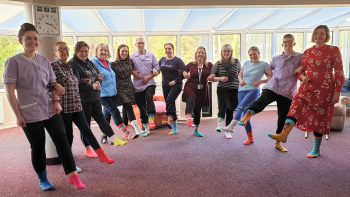 Allied Health Professionals wearing odd socks to raise awareness of Lymphoedema