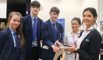 Students at health and social care careers event in Foyle College