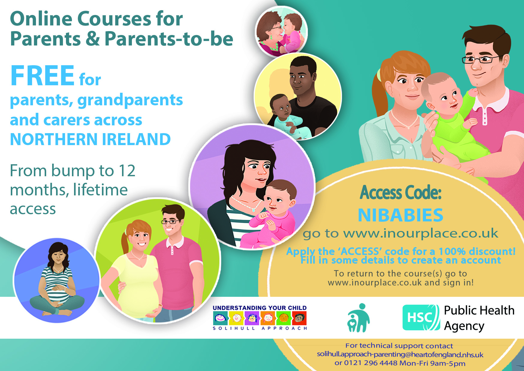 Parents and Parents-to-be Courses Flyer