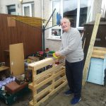 Service User taking part in the garden project