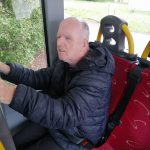 Service User Dessie on an outreach bus journey