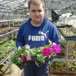 Service User taking part in the Sow and Grown Project