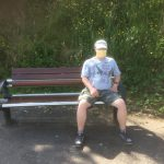 Service User taking a break during their walk