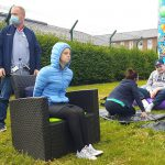 Service Users and Staff taking part in the Sports / Fun Day