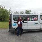 Kevin pictured with the Omagh Day Centre Birthday Bus