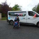 Ryan pictured with the Omagh Day Centre Birthday Bus