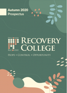 Recovery College Autumn 2020 Prospectus Front Cover