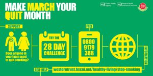 Make March your Quit Month infographic - 28 Day Challenge