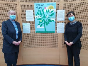 Sr Rosa Wong (Catholic) And Rev Lorna Dreaning (Methodist) With The Tree Of Reflection At South West Acute Hospital