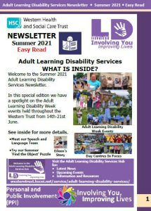 July Easy Read Newsletter Cover