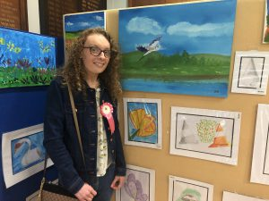 Dearbhla Brogan with her painting